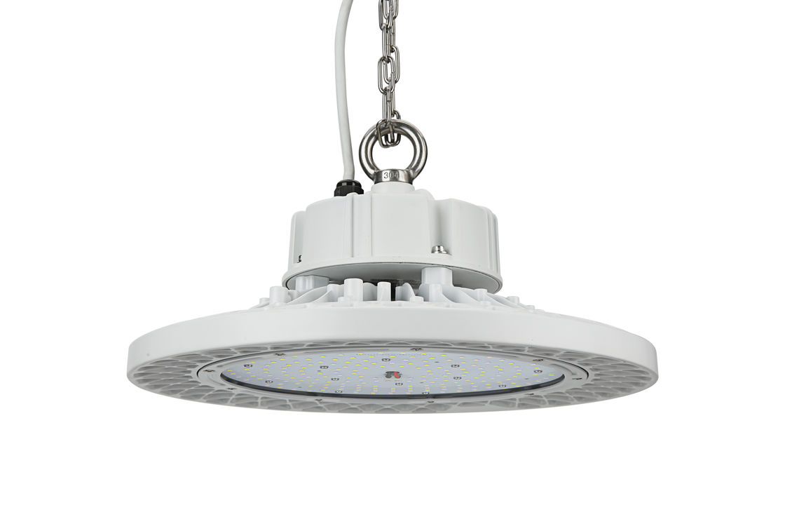High Brightness UFO LED High Bay 160LPW Efficiency Motion Sensor 100W 120° Beam Angle